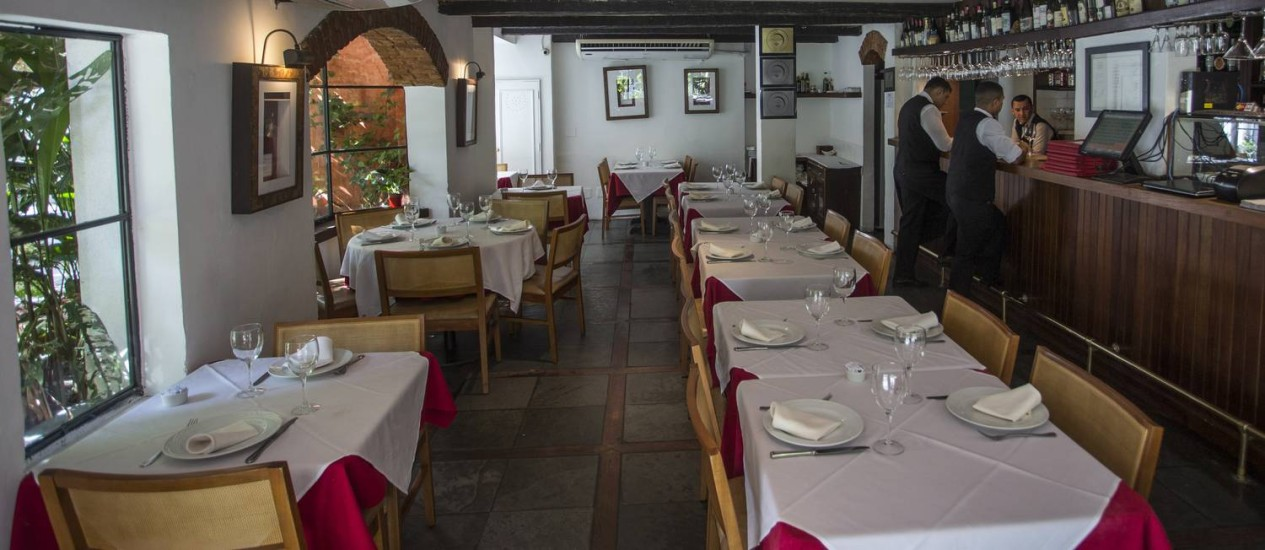 Osteria dell'Angolo, em Ipanema, está à venda. Sócio diz que violência tem afastado clientesFoto: Guito Moreto / Agência O Globo