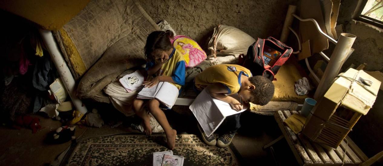 Onde mora a miséria: desigualdade na pobreza aumenta Foto: Márca Foletto / Agência O Globo