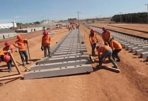 Obras da ferrovia Norte-Sul Foto: Aílton de Freitas/ 15.05.2014