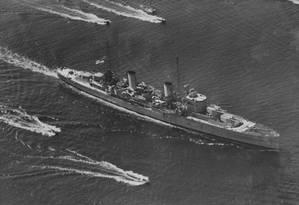 O HMAS Perth chega a Port Jackson, em Sidney Foto: Divulgação / Royal Australian Navy