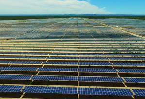 Parque solar da Lapa, na Bahia, é o maior do país em operação Foto: Divulgação
