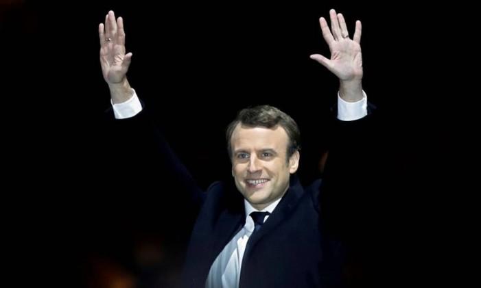 O partido do presidente Macron lidera as pesquisas para a eleição francesa Foto: CHRISTIAN HARTMANN / REUTERS