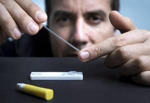 Collovati e o autoteste para HIV: tecnologia que pode ajudar saúde pública Foto: Leo Martins