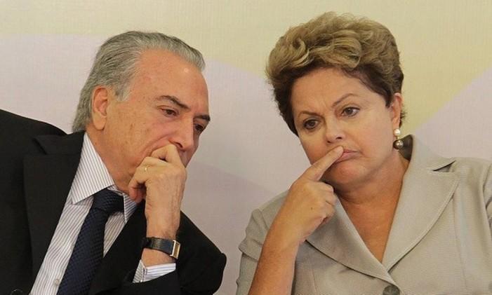 O presidente Michel Temer e a ex-presidente Dilma Rousseff Foto: Ailton de Freitas