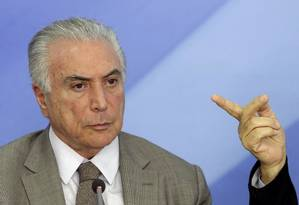 O presidente Michel Temer Foto: Eraldo Peres / AP / 15-12-2016
