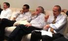 Rocha Loures, Henrique Eduardo Alves, Michel Temer e Eliseu Padilha assistem à sessão do impeachment de Dilma na Câmara dos Deputados Foto: Divulgação