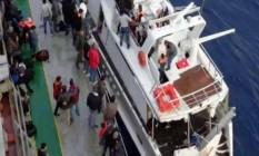 Imigrantes clandestinos que viajam para a Itália em iates Foto: Reprodução