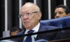 O senador João Alberto Souza (PMDB-MA), durante sessão deliberativa, no plenário do Senado Foto: Waldemir Barreto/Agência Senado/23-05-2017