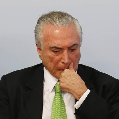 O presidente Michel Temer Foto: Givaldo Barbosa / Agência O Globo / 5-6-2017
