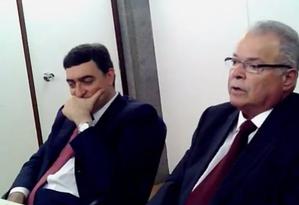 O executivo Emilio Odebrecht, durante depoimento de sua deleção premiada Foto: Reprodução
