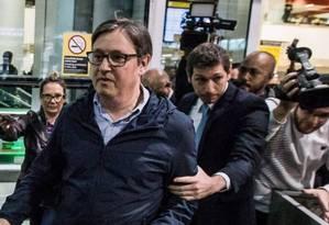 Rodrigo Rocha Loures chegando de viagem no aeroporto Foto: Bruno Santos / Agência O Globo