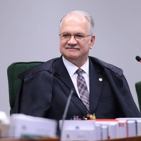 O ministro Edson Fachin, durante sessão da Segunda Turma do Supremo Tribunal Federal (STF) Foto: Jorge William / O Globo