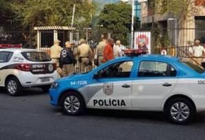 A movimentação no local Foto: Rio de Janeiro News / Facebook