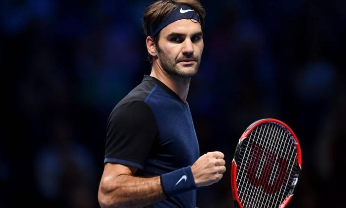 Roger Federer na final da Barclays ATP em Londres em 2015. Foto: Tony O'Brien / Reuters