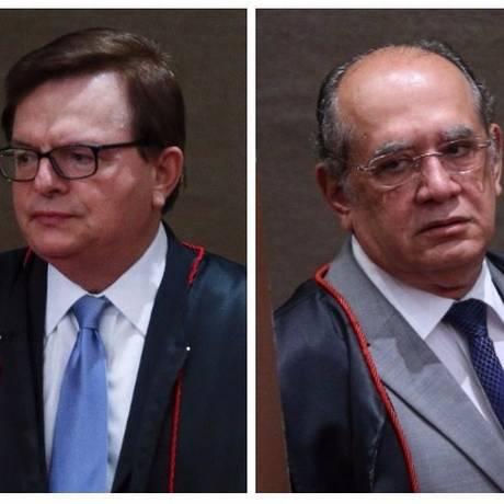 O relator Herman Benjamin e o presidente do TSE, Gilmar Mendes Foto: Montagem sobre fotos