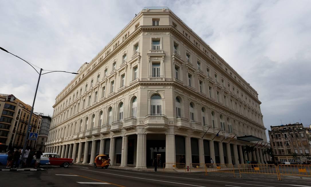 Inaugurado nesta quarta-feira, 7 de junho, o Gran Hotel Manzana Kempinski La Habana é o primeiro cinco estrelas da capital cubana. Foto: Stringer / Reuters
