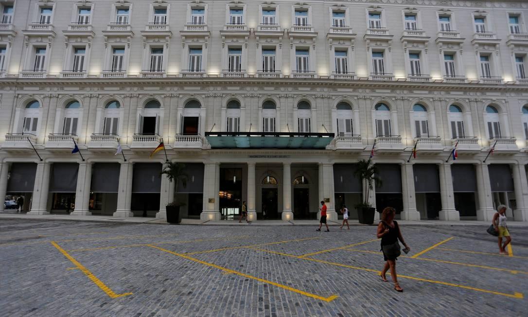 O hotel fica no histórico prédio La Manzana de Gómez, marco arquitetônico de Havana, que começou a ser construído em 1890 e só foi concluído na década de 1910. Foto: Stringer / Reuters