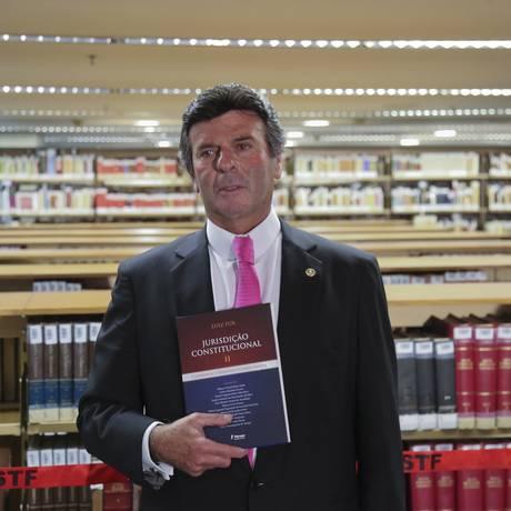 O ministro Luiz Fux lança livro em Brasília Foto: Ailton Freitas / Agência O Globo