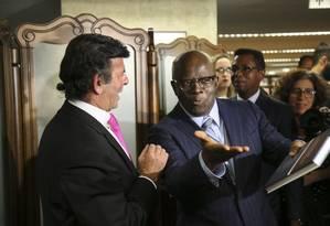 O ex-presidente do STF Joaquim Barbosa no lançamento do livro do ministro Luiz Fux Foto: Ailton Freitas / Agência O Globo