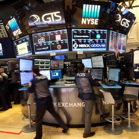 Mercado financeiro Foto: AFP