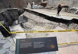 Os vestígios do templo Ehecatl-Quetzalcoatl serão transformados em espécie de museu a céu aberto Foto: ALFREDO ESTRELLA / AFP