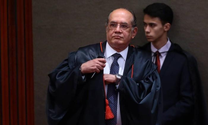 O presidente do TSE, Gilmar Mendes Foto: Jorge William / Agência O Globo