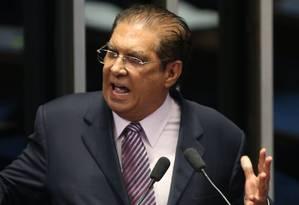 O senador Jader Barbalho (MDB-PA) Foto: André Coelho / Agência O Globo