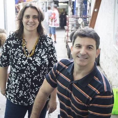 Clarice Pinheiro e Vitor Aguiar darão aula na comunidade Foto: Fernando Lemos / Agência O Globo