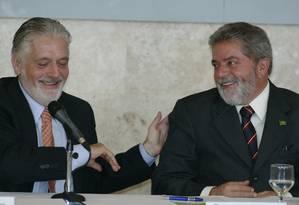 Ex-presidente Lula e com o então ministro Jaques Wagner Foto: Roberto Stuckert Filho / Divulgação