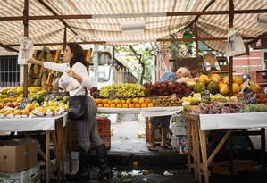 Feira livre em Botafogo. Foto : Fernando Lemos / Agência O Globo