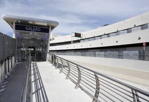 A Estação do BRT, no Terminal 1 do Galeão Foto: Fábio Rossi / Agência O Globo