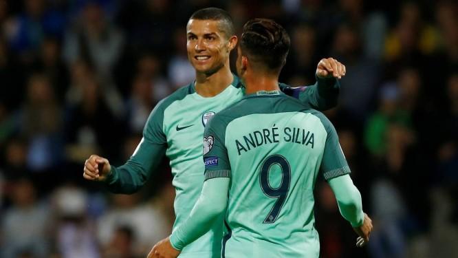 Cristiano Ronaldo e André Silva marcaram os gols de Portugal na vitória  sobre a Letônia Foto 252557549920f