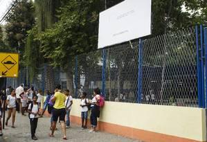 A Escola Municipal André Trouche, no Barreto: Zona Norte concentra escolas afetadas Foto: Fernando Lemos / Agência O Globo
