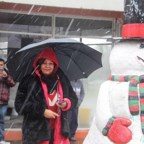 São Joaquim registra neve na tarde desta sexta-feira Foto: Mycchel Hudsonn Legnaghi / São Joaquim Online / Agência O Globo