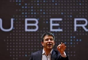 Sobrevivência. Travis Kalanick, fundador da Uber: saída do vice-presidente teria sido uma manobra para protegê-lo Foto: Danish Siddiqui / Danish Siddiqui/REUTERS/19-1-2016