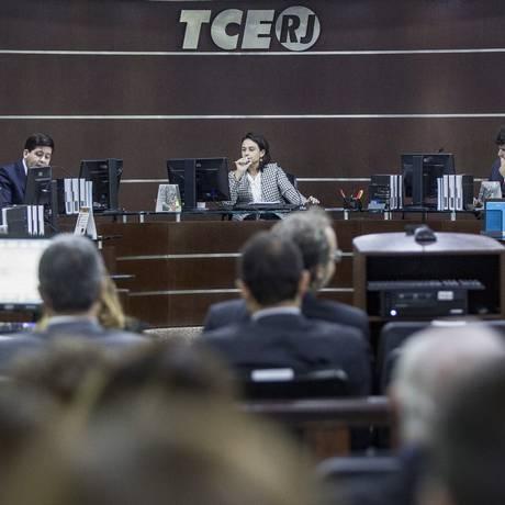TCE analisa as contas de Pezão Foto: Ana Branco - 30/05/2017 / O Globo