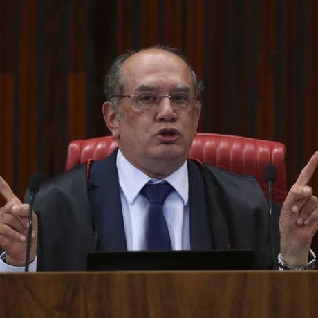 O ministro Gilmar Mendes no julgamento da chapa Dilma-Temer Foto: Ailton Freitas / Agência O Globo / 9-6-2017