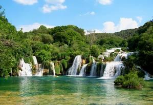 As cachoeiras do Parque Nacional Krka, na Croácia Foto: Creative Commons / Reprodução