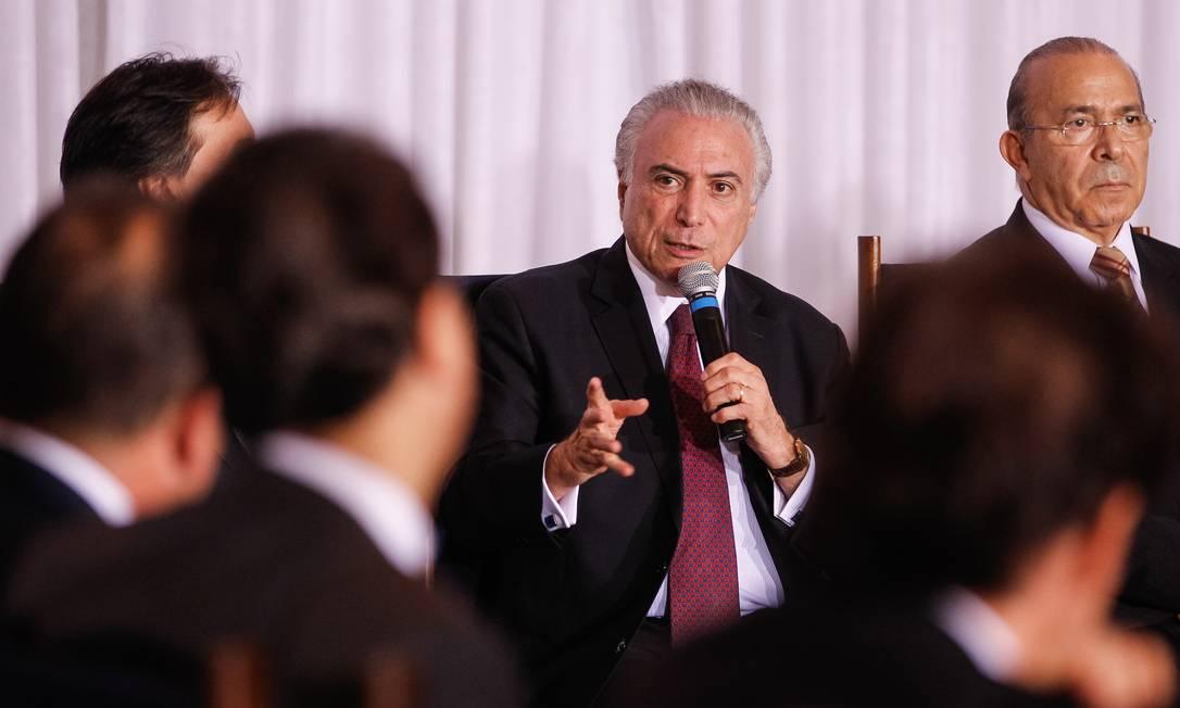 Reunião-Jantar com governadores. Palavras do Presidente Michel Temer Foto: Beto Barata / Planalto