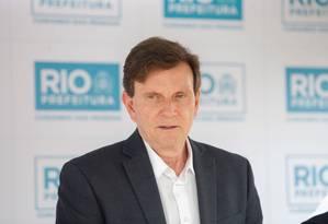 Desde que assumiu a prefeitura, Crivella já fez cinco viagens internacionais Foto: Brenno Carvalho / Agência O Globo