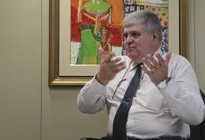 Deputado Carlos Marun (PMDB) em seu gabinete. Foto Aílton de Freitas/Agência O Globo
