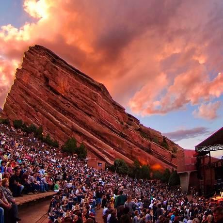 O anfiteatro de Red Rocks, em Denver, a sede do IPW de 2018 Foto: Visit Denver / Divulgação