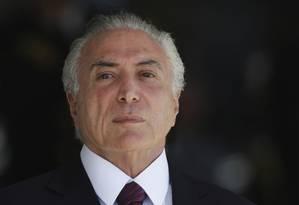 O presidente Michel Temer Foto: Eraldo Peres / AP
