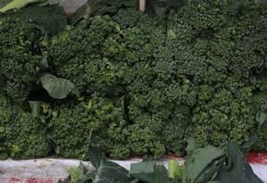 O extrato do brócolis ajuda no controle dos níveis de glicose, mostra estudo Foto: Nina Lima / EXTRA