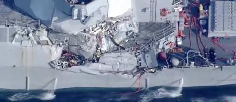 Vídeo mostra danos significativos em destróier dos EUA Foto: Reprodução