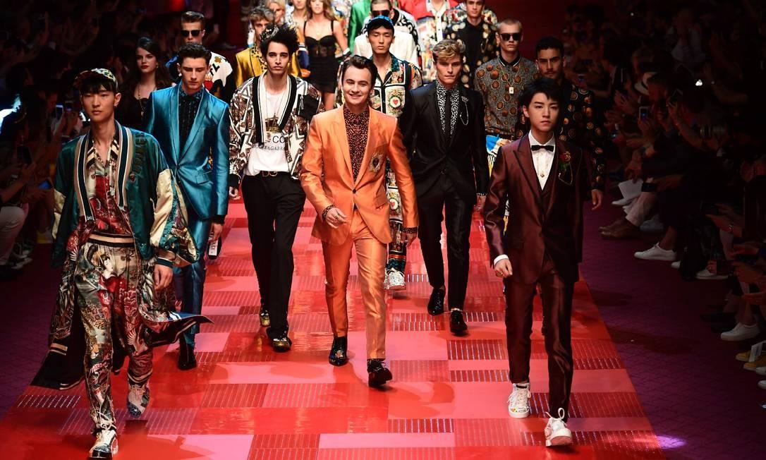Os millennials na passarela da Dolce & Gabbana MIGUEL MEDINA / AFP