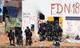 Rebelião. Ação militar na penitenciária de Alcaçuz, no Rio Grande do Norte