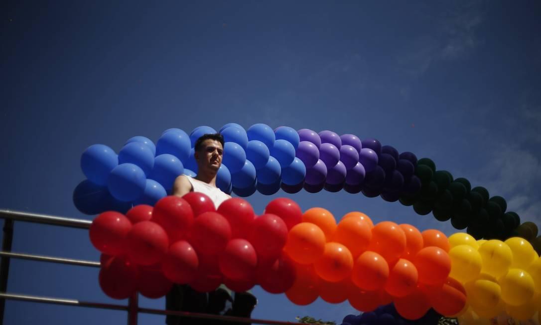 Parada LGBT acontece nesse domingo na capital paulista animada por 19 trios elétricos Marcos Alves / Agência O Globo
