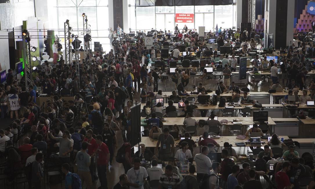 Ao todo, mais de 70 mil pessoas participaram da Campus Party Michel Filho / Agência O Globo