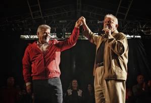 Lula em posse de Wagner Santana, novo presidente do Sindicato dos Metalúrgicos do ABC Foto: Reprodução / Facebook
